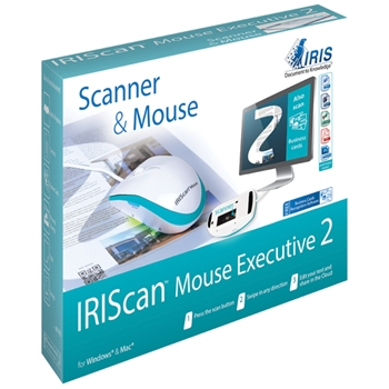 I.R.I.S. IRISCan Mouse Executive 2 400 x 400 DPI Scanner per mouse Blu, Bianco A3