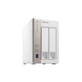 QNAP TS-251 NAS Torre Collegamento ethernet LAN Bianco server NAS e di archiviazione