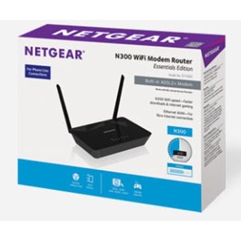 NETGEAR 2PT WLESS N300 DSL MODEM ROUTER