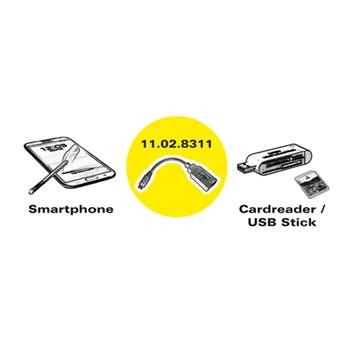 ROLINE 11.02.8311 cavo USB 0,15 m 2.0 Micro-USB B USB A Nero