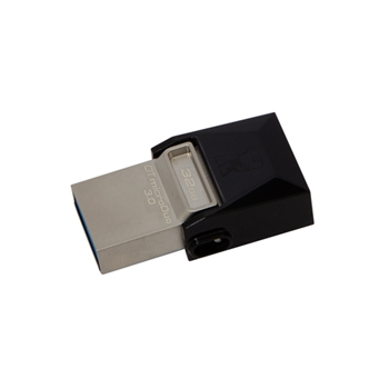 Kingston Technology DataTraveler 32GB microDuo 3.0 unità flash USB USB Type-A / Micro-USB 3.0 (3.1 Gen 1) Nero
