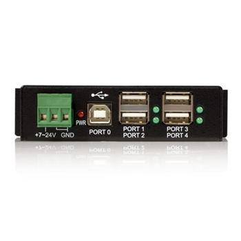 StarTech.com HUB USB 2.0 Industriale in metallo a 4 porte con protezione da sovracorrenti - montabile