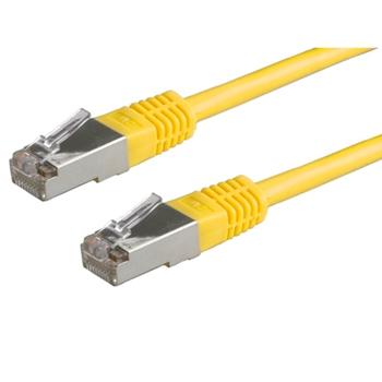Value 21.99.1322 cavo di rete 0,5 m Cat6 S/FTP (S-STP) Giallo
