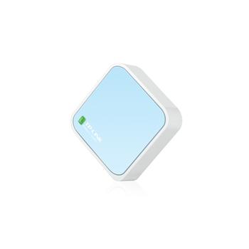 TP-LINK TL-WR802N router wireless Banda singola (2.4 GHz) Fast Ethernet Blu, Bianco