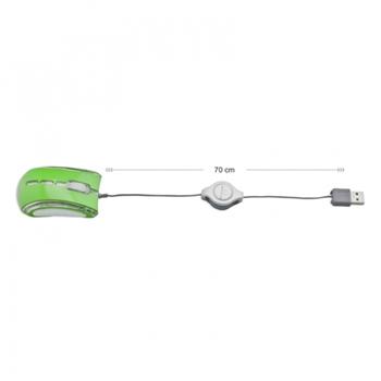 Esperanza EM109G mouse USB Ottico 800 DPI Ambidestro