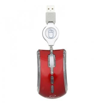 Esperanza EM109R mouse USB Ottico 800 DPI Ambidestro