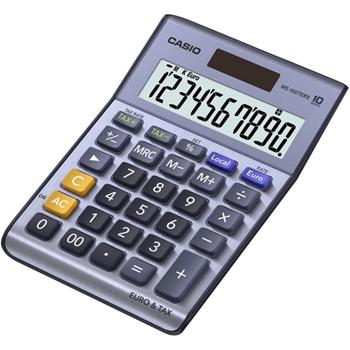 Casio MS-100TERII calcolatrice Scrivania Calcolatrice di base Metallico