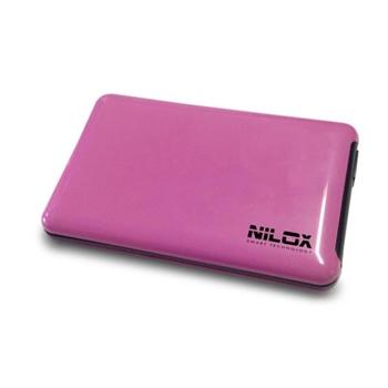 """Nilox DH0002FU contenitore di unità di archiviazione 2.5"""" Enclosure HDD Rosa"""