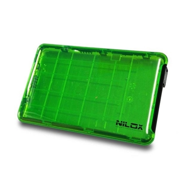 "Nilox DH0002GT contenitore di unità di archiviazione 2.5"" Enclosure HDD Verde"