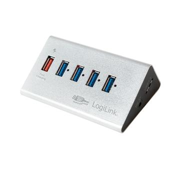 LogiLink UA0227 hub di interfaccia USB 3.0 (3.1 Gen 1) Micro-B 5000 Mbit/s Nero
