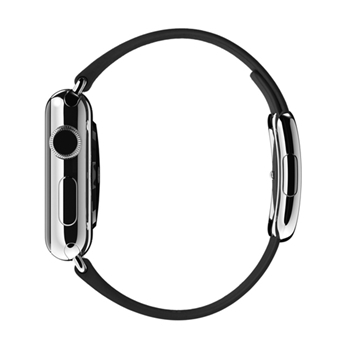 Apple MJY72ZM/A accessorio per smartwatch Band Nero Pelle