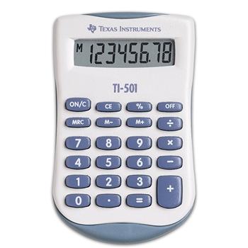 Texas Instruments TI-501 calcolatrice Tasca Calcolatrice di base Blu, Bianco
