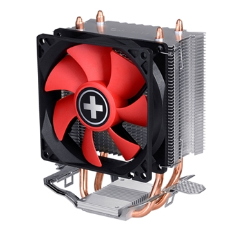 Xilence A402 Processore Refrigeratore 9,2 cm Nero, Rosso, Argento