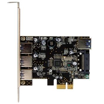StarTech.com Scheda Espansione PCI Express USB 3.0 SuperSpeed a 4 porte ( 3 esterne, 1 interna )
