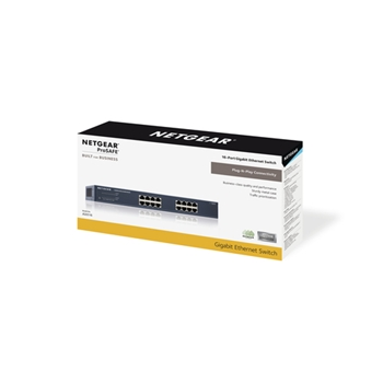 NETGEAR Switch Desktop Pro Safe 16-port 10/100/1000 JGS516