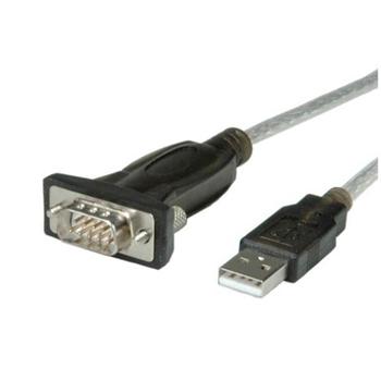 Nilox NX080500107 cavo di interfaccia e adattatore Serial DB9 USB 2.0 A Nero, Grigio