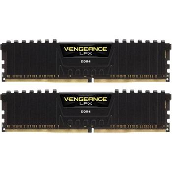 CORSAIR DDR4 2400MHz 16GB 2 x 288 DIMM Unbuffered 14-16-16-31 Vengeance LPX Black Heat spreader 1.20V