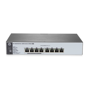 Hewlett Packard Enterprise OfficeConnect 1820 8G PoE+ (65W) Gestito L2 Gigabit Ethernet (10/100/1000) Supporto Power over Ethernet (PoE) 1U Grigio