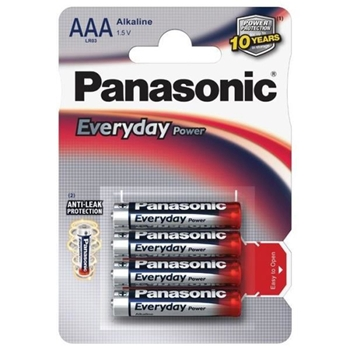 PANASONIC BLISTER 4 MINISTILO LR03 EVERYDAY