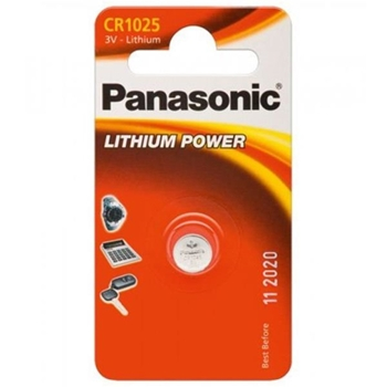 Panasonic Lithium Power Batteria monouso CR1025 Litio