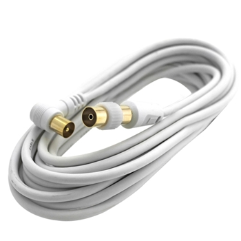 Vultech CAAU602 cavo coassiale 2 m TV 9.5 mm Bianco