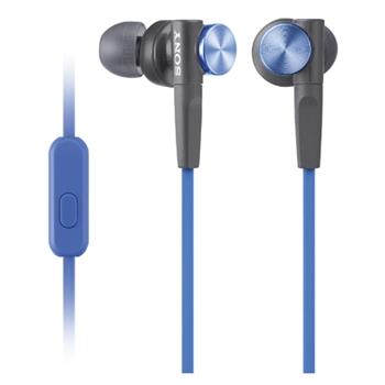 Sony MDR-XB50AP Cuffia Auricolare Nero, Blu
