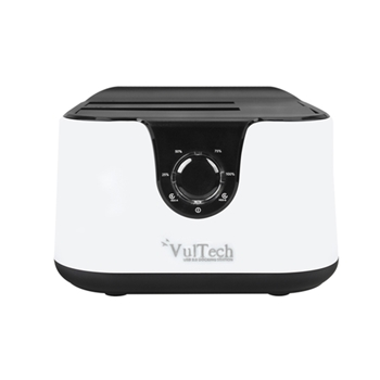 Docking Station Vultech DK-USB3W Sata Max 2HDD Tasto Clone USB 3.0 Bianco