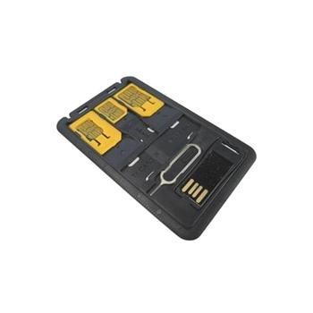 Techly Adattatori schede SIM con Micro Lettore USB di MicroSD (I-SIM-5)
