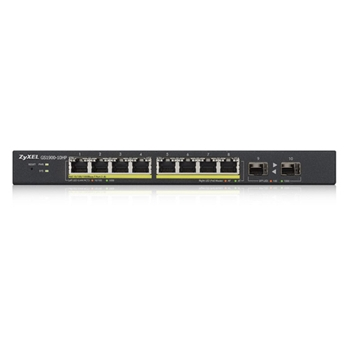Zyxel GS1900-10HP Gestito L2 Gigabit Ethernet (10/100/1000) Nero 1U Supporto Power over Ethernet (PoE)