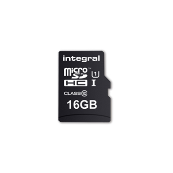 INTEGRAL Micro SDXC Cards CL10 16GB Ultima Pro UHS-1 up to 90MB/s transfer with Adapter to SD Card