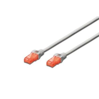 DIGITUS Premium CAT 6 UTP patch cable, Length 0,5m, Color grey