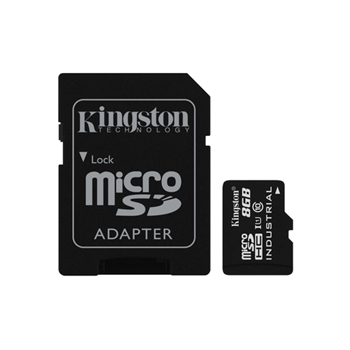 KINGSTON 8GB MICROSDHC UHS-I CLASS 10 INDUSTRIAL TEMP CARD+ ADAPTER
