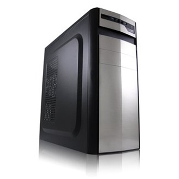 Case M-ATX LC-Power 7017S silver 2xUSB3 (w/o PSU); silver/black