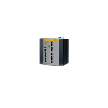 Allied Telesis AT-IE300-12GP-80 Gestito L3 Gigabit Ethernet (10/100/1000) Nero, Grigio Supporto Power over Ethernet (PoE)
