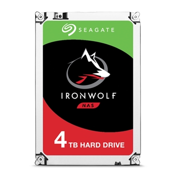 SEAGATE NAS HDD 4TB IronWolf 5900rpm 6Gb/s SATA 64MB cache 3.5inch 24x7 CMR for NAS and RAID rackmount systemes BLK
