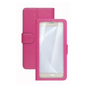 """Celly Unica View custodia per cellulare 11,4 cm (4.5"""") Custodia a libro Rosa"""