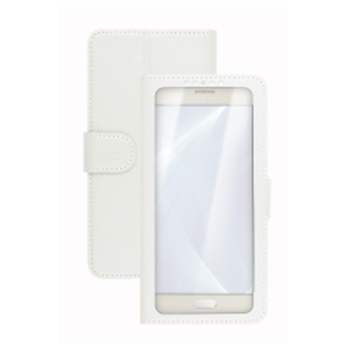 """Celly Unica View custodia per cellulare 12,7 cm (5"""") Custodia a libro Bianco"""