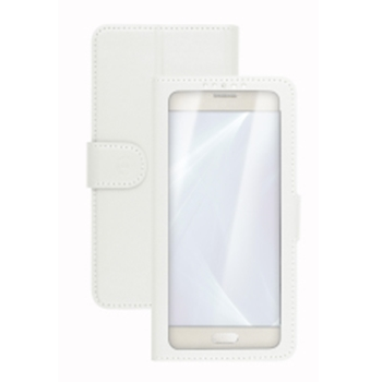 "Celly Unica View custodia per cellulare 14 cm (5.5"") Custodia a libro Bianco"