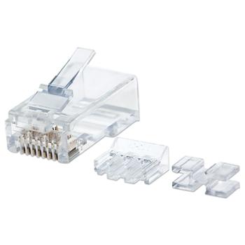 Intellinet 790550 cavo di collegamento RJ45 Trasparente