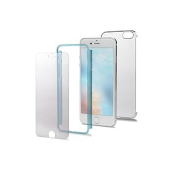 """Celly BODY800LB custodia per cellulare 11,9 cm (4.7"""") Cover Blu, Trasparente"""