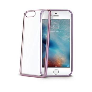 """Celly LASER801RG custodia per cellulare 14 cm (5.5"""") Cover Oro rosa, Trasparente"""