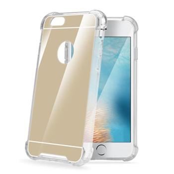 """Celly ARMORMIR801GD custodia per cellulare 14 cm (5.5"""") Cover Oro, Specchio"""