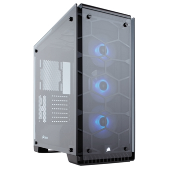 Corsair Crystal 570X Midi-Tower Nero, Trasparente