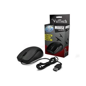 MOUSE USB VULTECH MOU-958 NERO 1000 DPI ALTA PRECISIONE 3 TASTI + SCROLL