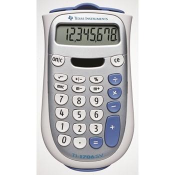 Texas Instruments TI-1706 SV calcolatrice Scrivania Calcolatrice di base Argento, Bianco
