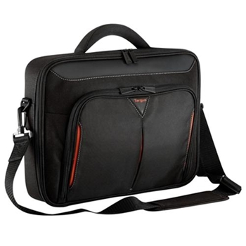 Targus 17 - 18 inch / 43.2 - 45.7cm Classic+ Clamshell Case, black and red