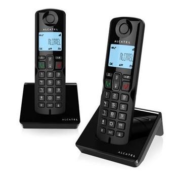 Alcatel S250 Duo Telefono DECT Nero Identificatore di chiamata