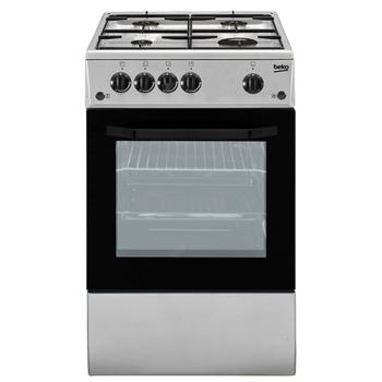 Beko CSS42014FS cucina Piano cottura Gas Nero, Argento A