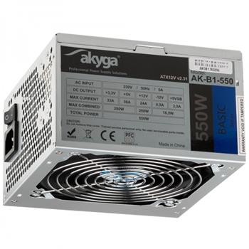 Akyga AK-B1-550 alimentatore per computer 550 W 20+4 pin ATX ATX Grigio