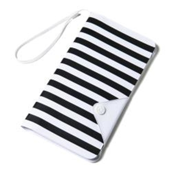 "Celly SPLASHWALLETWH custodia per cellulare 14,5 cm (5.7"") Custodia a borsellino Nero, Bianco"